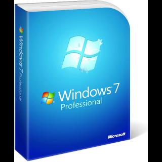 Microsoft Windows 7 Pro (Professional) OEM 32/64 bit