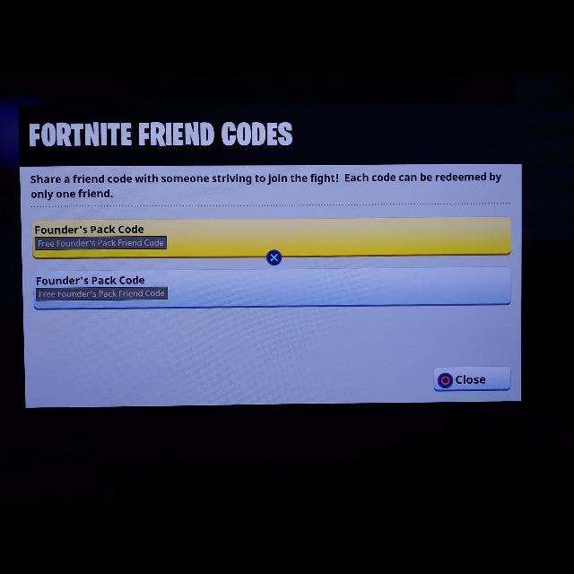 free fornite codes
