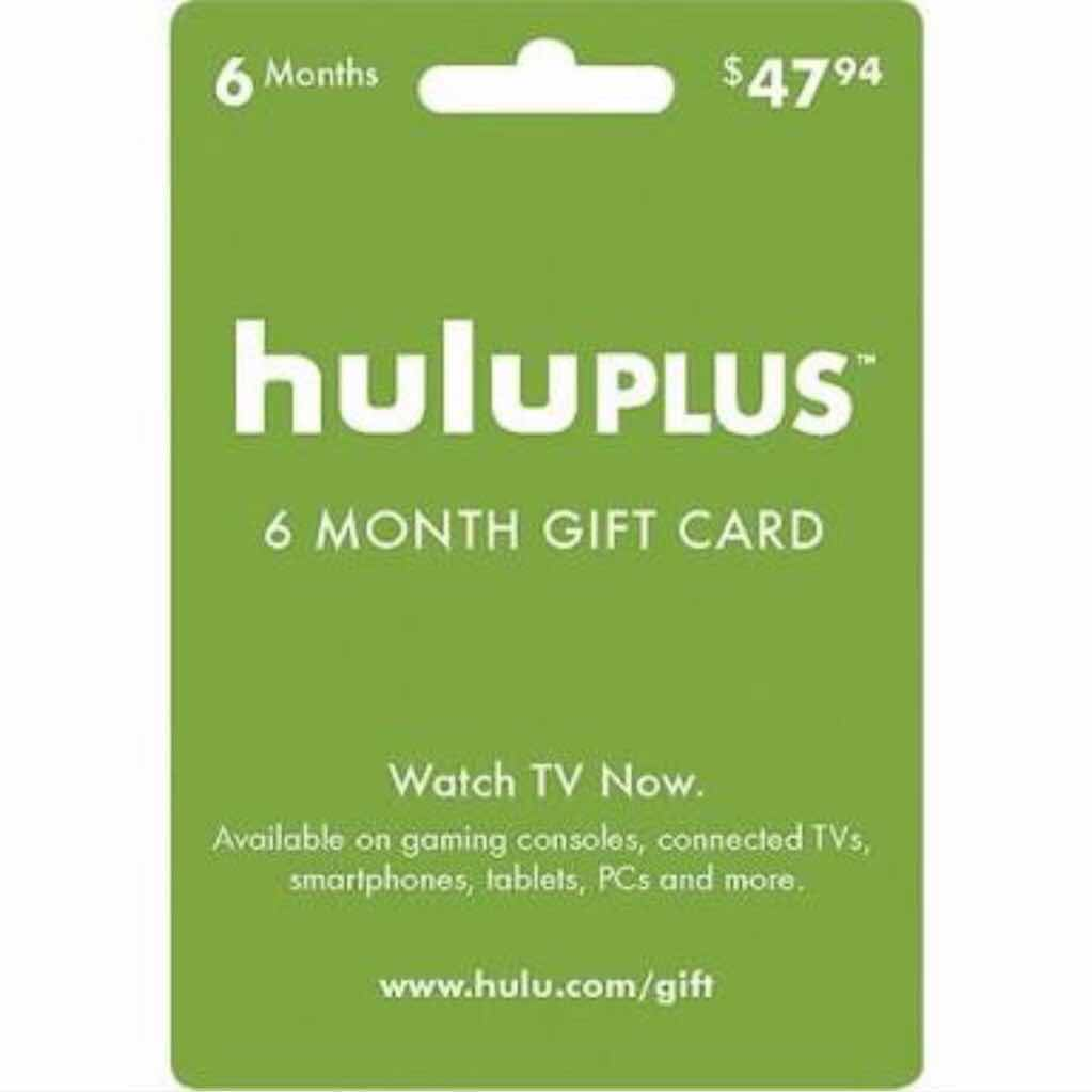 47$ Hulu gift card 6 MONTHS HULU GIFT CARD CODE #M3 ( gameFlip automatic delivery)