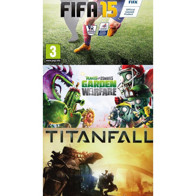 Fifa 15 + Titanfall + Plants vs Zombies Garden Warfare Digital ...