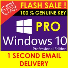 Windows 10 Professional 32/64bit License Key 3s Instant Delivery