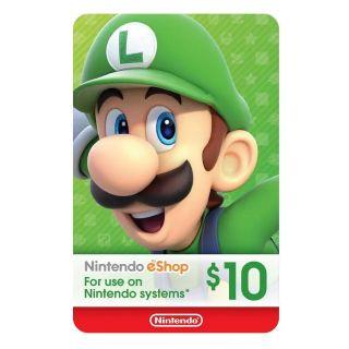 $10 Nintendo eShop Gift Card [Digital Code] Instant Delivery