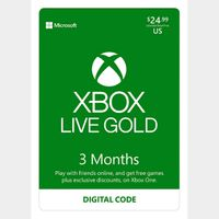 3 Month Xbox Live Gold Code INSTANT DELIVERY
