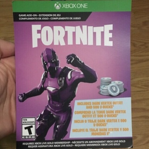 Fortnite Dark Vertex Skin & 500 V-Bucks XBOX ONE