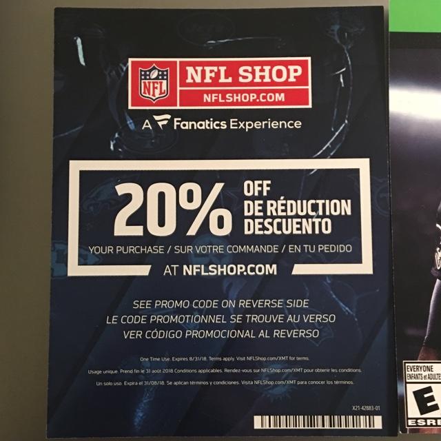 67f82f7cff9 Madden NFL 18 Xbox One full game digital code + 20% off NFL shop promo code