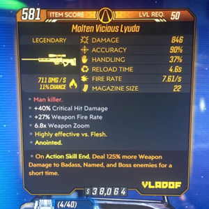 Weapon | Molten Vicious Lyuda Lvl 50