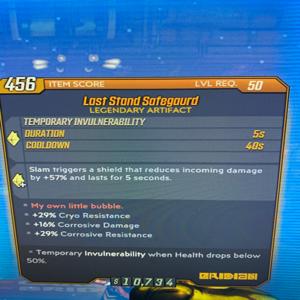 Artifact | Last Stand Safeguard Lvl 50