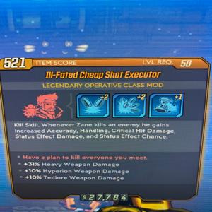 Class Mod | ill-Fated Cheap Shot Executor Lvl 50