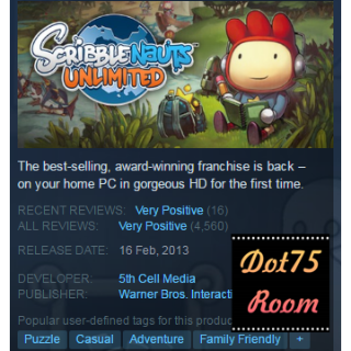 Scribblenauts Unlimited●STEAM/Auto delivery