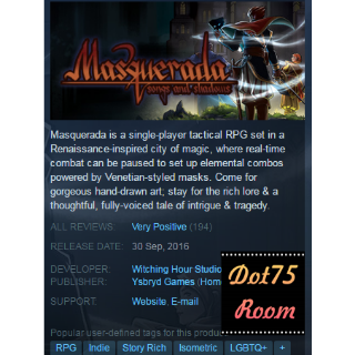 Masquerada: Songs and Shadows●STEAM/Auto delivery