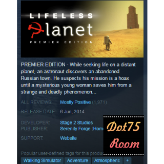 Lifeless Planet Premier Edition●STEAM/Auto delivery