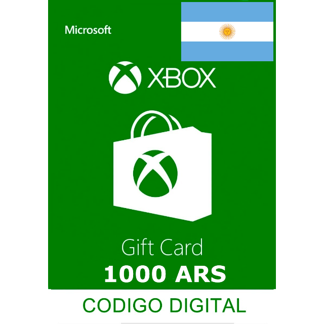 Xbox Gift Card 1000 Ars Argentina