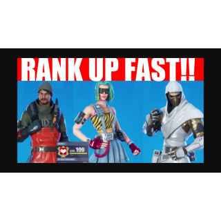I will help you level up your Fortnite account to Lvl100. / Fast!!!