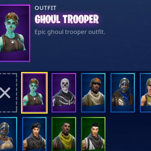 Original Fortnite Account Ghoul Trooper And Skull Trooper Other Gameflip