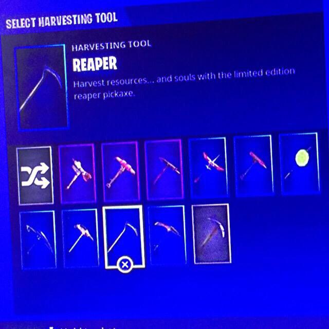 previousnext - fortnite account reaper pickaxe
