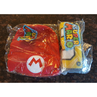 Nintendo Super Mario Bros Beanie and Scarf NWT