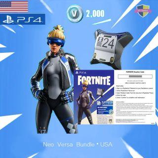 Neo Versa+2000 V-Bucks USA Fortnite PS4