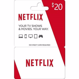 20$ Netflix Gift Card US Intant Delivery
