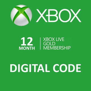 Instant Code 12 Month Xbox live gold for Xbox one and Xbox 360