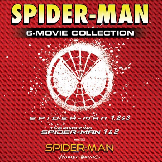 Spider-Man 6 Movie Collection HD Movies Anywhere   VUDU Digital Code
