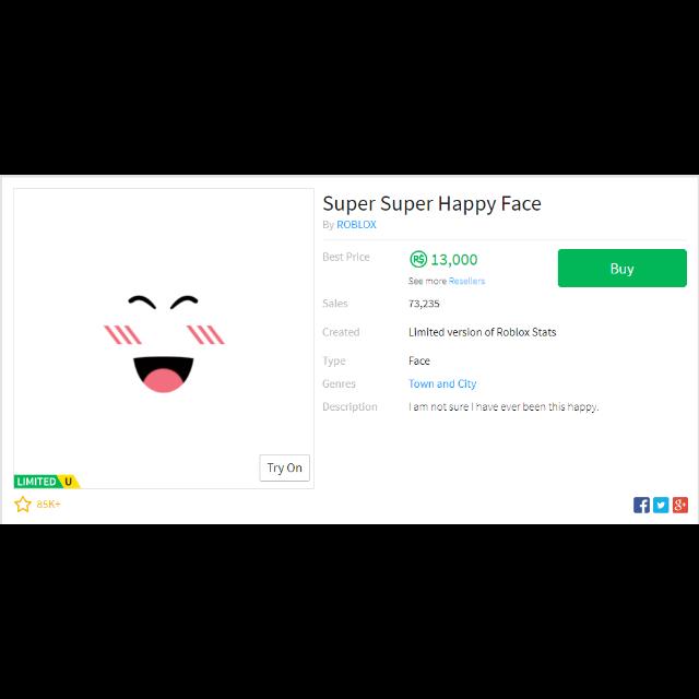 Bundle Roblox Super Happy Face In Game Items Gameflip