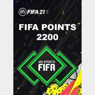 FIFA 21: 2200 FUT Points (PC) Origin Key GLOBAL
