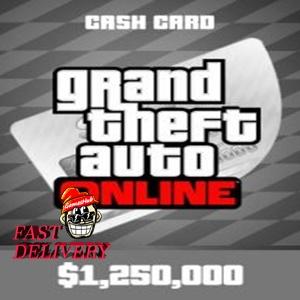 Grand Theft Auto Online: Great White Shark Cash Card PSN NORTH AMERICA 1 250 000 USD Key PS4[GTA 5][GTA V]