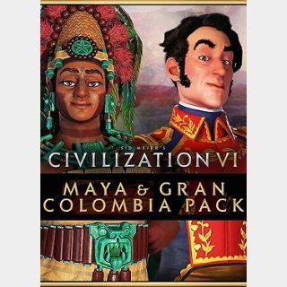 Sid Meier's Civilization VI - Maya & Gran Colombia Pack (PC) Steam Key GLOBAL
