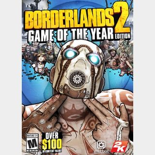 Borderlands 2 (Game of the Year Edition) (PC) Steam Key GLOBAL