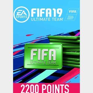 FIFA 19: 2200 FUT Points (PC) Origin Key GLOBAL