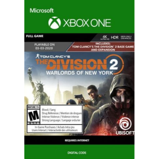 The Division 2: Warlords of New York (Xbox One) Xbox Live Key UNITED STATES