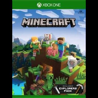 Minecraft + Explorers Pack XBOX LIVE Key XBOX ONE GLOBAL