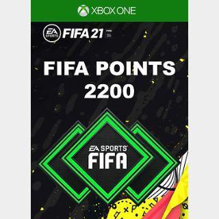 FIFA 21: 2200 FUT Points Xbox ONE