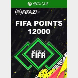 FIFA 21: 12000 FUT Points Xbox ONE