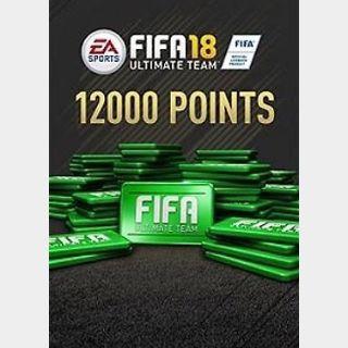 FIFA 18: 12000 FUT points (PC) Origin Key GLOBAL