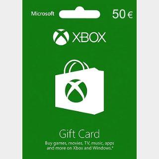 Xbox Gift Card 50  (Euro area)