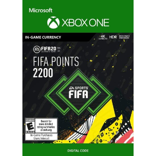 FIFA 20 - 2200 FUT Points (XBOX ONE) Xbox Live Key GLOBAL