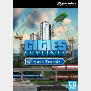 Cities: Skylines - Mass Transit (PC) Steam Key GLOBAL