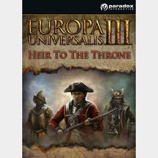 Europa Universalis III: Heir to The Throne (PC) Steam Key GLOBAL