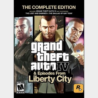 Grand Theft Auto IV: The Complete Edition (PC) Steam Key GLOBAL