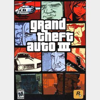 Grand Theft Auto III (PC) Steam Key GLOBAL