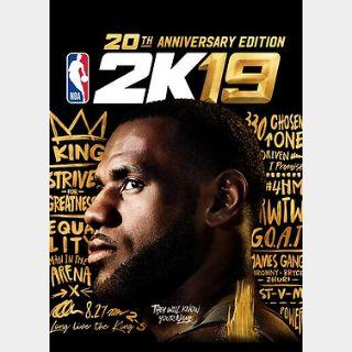 NBA 2K19 20th Anniversary Edition (PC) Steam Key GLOBAL