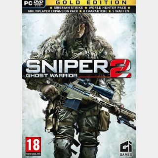 Sniper: Ghost Warrior 2 Gold Edition (PC) Steam Key GLOBAL