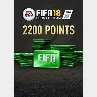 FIFA 18: 2200 FUT points (PC) Origin Key GLOBAL