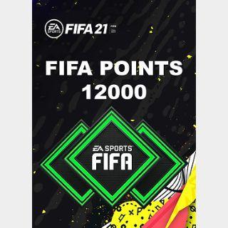 FIFA 21: 12000 FUT Points (PC) Origin Key GLOBAL