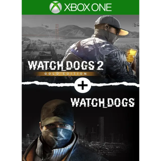 Watch Dogs 1 + Watch Dogs 2 Gold Editions Bundle [Xbox One] [Region US] [Auto Delivery]