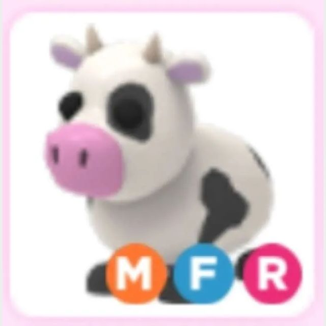 Pet Mega Neon Cow Adopt Me In Game Items Gameflip