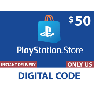 $50.00 PlayStation Store (𝗣𝗦𝗡) US ONLY