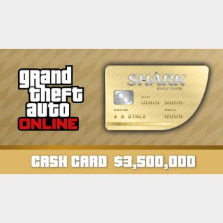 Grand Theft Auto Online (GTA V 5): The Whale Shark Cash Card - Rockstar Key (PC)