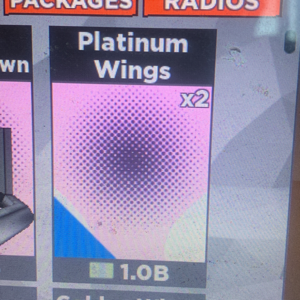Collectibles | 2 platinum wings in case clicker